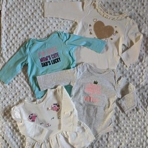 Bundle of 3 onesie and a long sleeve